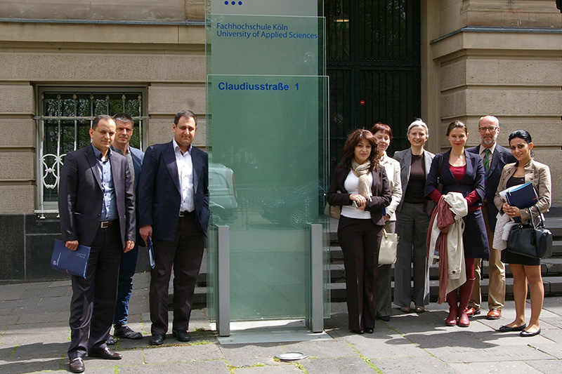Study trip by an Armenian delegation for an exchange of information in relation to the course of studies European Master of Translation of Cologne University of Applied Sciences
