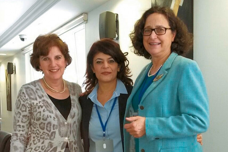 Mia Louise Roessing-Bakels, judge at Arnhem Court of Appeal; Canan Seçkin, labour court judge at the Anadolu Courthouse in Istanbul; RTA Dr Marina Thode (left to right)