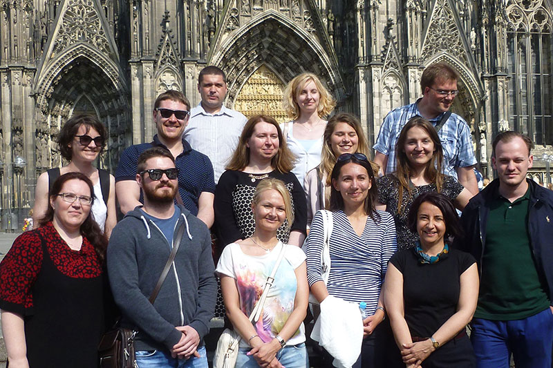 The participants of the internship programme for notaries on an excursion to Cologne