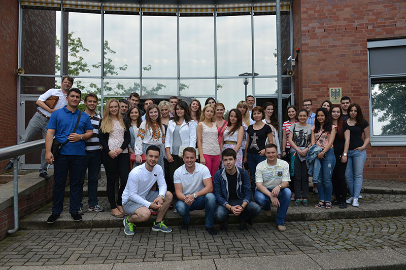 "Participants at the IRZ's fifth ""German law"" summer school in Brühl and Bonn"