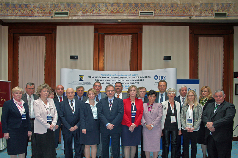 Participants at the Regional Constitutional Court conference in Bosnia and Herzegovina