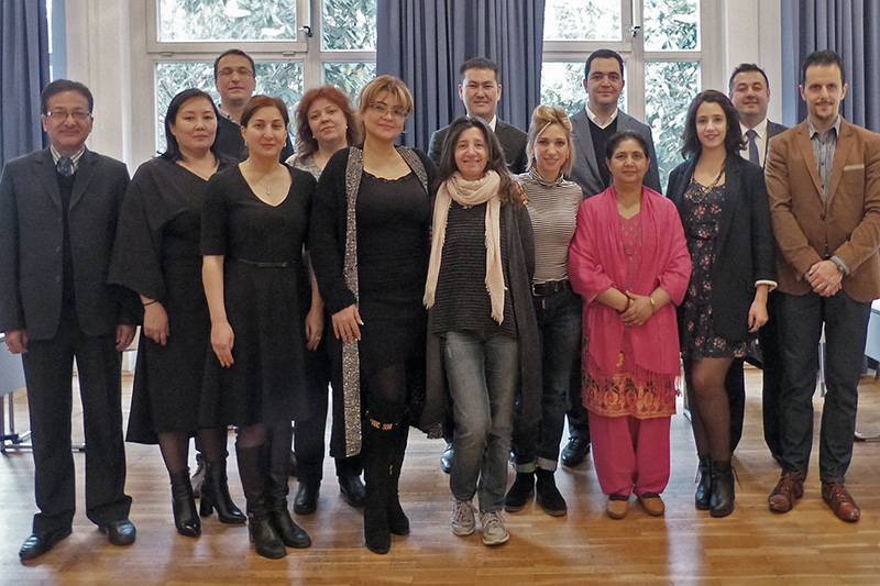 Participants at the internship programme for English-speaking civil and commercial judges