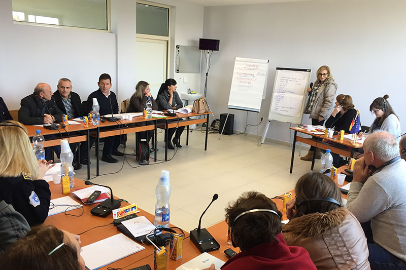 Workshop with staff members of the juvenile penitentiary centre in Lipjan on reforming and modernising young offenders' institutions