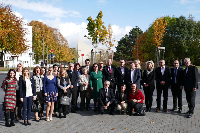 Participants from Croatia and Romania participating in the seminar on protective orders in civil law in Cologne