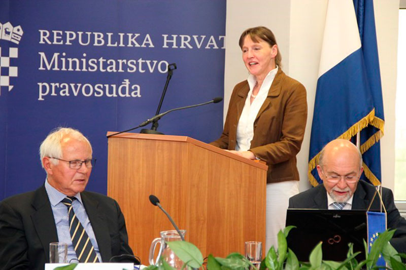 Twinning project to support the Croatian prison system: Dr. Peter Best, Project Leader; Katharina Tegeder, IRZ; Siegfried Löprick, long-term advisor (from left to right)