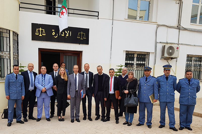 Visit to the penitentiary for resocialisation in Blida during the meeting of the working group for the reform of the Algerian penitentiary system